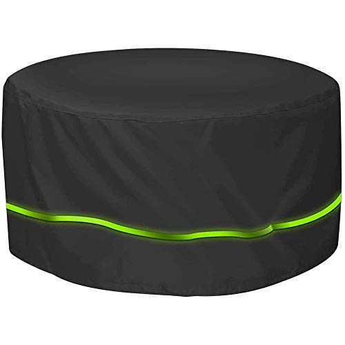 Mr.LQ Cubierta redonda para mesa de jardín Oxford 420D, impermeable, resistente a los desgarros, resistente a los rayos UV, a prueba de polvo para muebles al aire libre