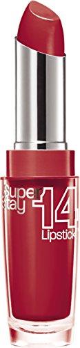 Maybelline New York Make-Up Lippenstift Superstay 14h Lipstick Non-Stop Red / Sattes Rot mit 14 Stunden Halt, 1 x 3,5 g