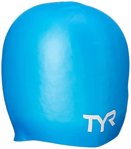 Wrinkle-Free Silicone Swim Cap, Blue