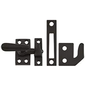 Oil Rubbed Bronze CF066U10B Deltana CF066 Small 4 Piece Solid Brass Window Casement Fastener