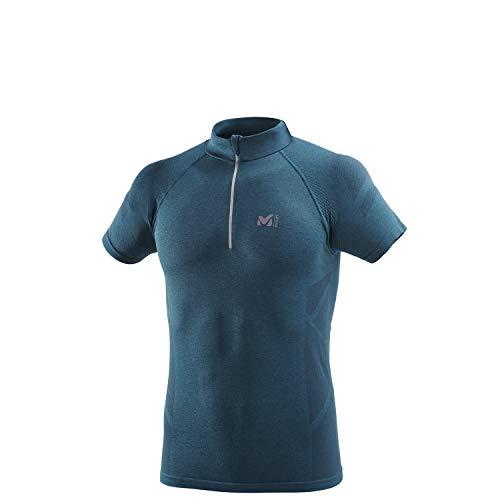 Millet - Lkt Seamless Zss - T-shirt Sport Homme - Respirant - Randonnée, Running, Trekking, Lifestyle - Bleu Foncé