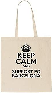 Keep Calm And Support FC BARCELONA - Bolsa de algodón para la compra, regalo de Navidad