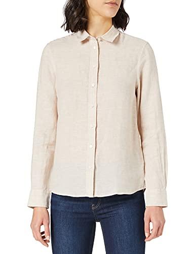 GANT Damen The Linen Chambray Shirt Bluse, Dry Sand, 36