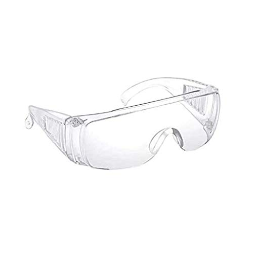HYRL Schutzbrille Persönliche Schutzausrüstung, Brillenschutz, Klar, Schlagfest, Für BAU, Labor, Chemieunterricht