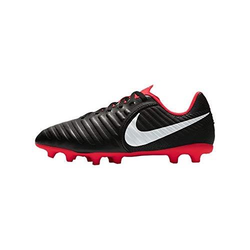 Nike JR Legend 7 Club FG, Zapatillas de fútbol Sala Unisex niño, Multicolor (Black/Pure Platinum-lt Crimson 006), 35 EU