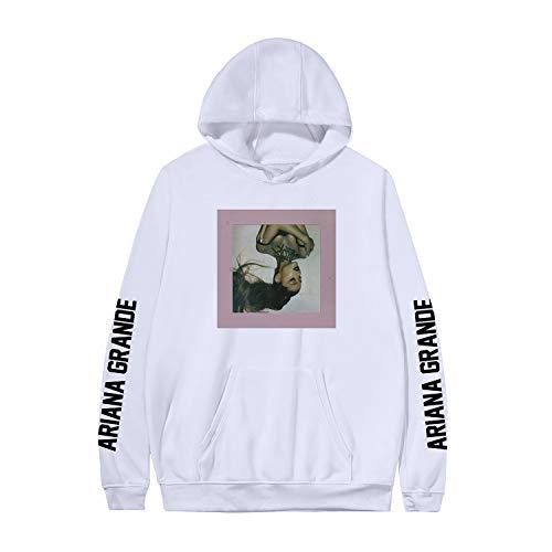 LJXJ Sängerin Ariana Grande Album Titelbild Mode Kapuzenpullover/Mädchen 3D-gedrucktes Sportoberteil, Hoodie,White-9,XXS