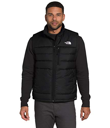 The North Face Men's Aconcagua Insulated Vest - Sleeveless Puffer Vest for Men, TNF Black, XL