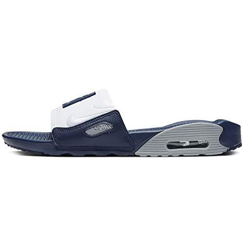 Nike Air Max 90 Slides Femininos, Obsidiana/branco-partícula cinza, 5