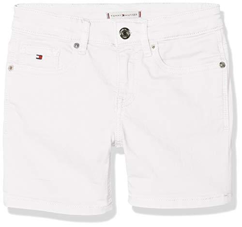 Tommy Hilfiger Tommy Hilfiger Mädchen Nora CDST Shorts, Weiß (Bright White 123), 164 (Herstellergröße: 14)