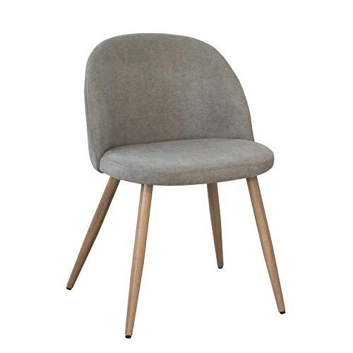 Sillas De Comedor Tapizadas En Tela Gris sillas de comedor tapizadas en tela  Marca Homely