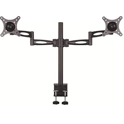 TradeMount Monitor tafelhouder aluminium voor twee monitoren uittrekbaar 15° kantelbaar 360° draaibaar voor LG 27