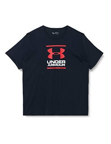 Under Armour UA GL Foundation Short Sleeve Tee, T-Shirt Homme, Noir (Black / White / Red), L