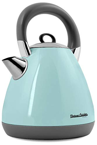 Bollitore elettrico in acciaio inossidabile 1.70L Vintage Cuisine by CooKing 1800W-2200W (Mint)