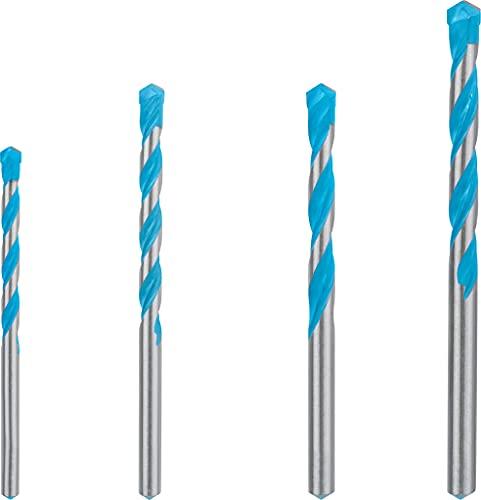 Bosch Professional 4 x Expert CYL-9 - Set di punte per trapano multicostruzione (per calcestruzzo, Ø 5,5-8 mm, accessori trapano a percussione rotante)