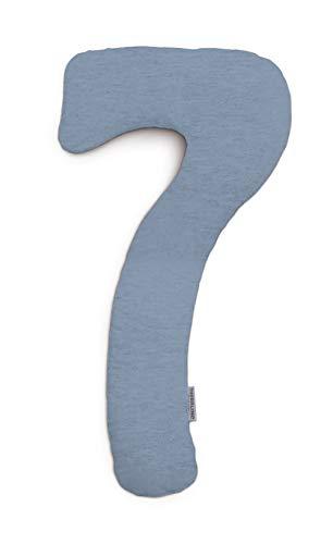 Theraline | my7 - Seitenschläferkissen | inkl. Außenbezug Melange blau-grau Bambus-Kollektion
