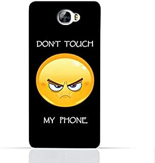Huawei Y6 II Compact TPU Silicone Case With Dont Touch My Phone 1 Design