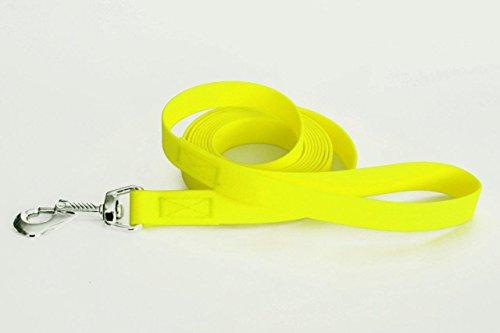 LENNIE Easycare Schleppleine mit Handschlaufe, 8 m lang, 20 mm breit, Neon-Gelb, robust und pflegeleicht durch wasserfeste Ummantelung