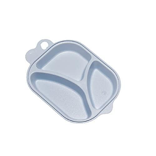Chew Plato Bebe Ventosa,Bebe Plato de Alimentación,se Puede Enfriar y Calentar,diseño de Tres Compartimentos,fácil de Limpiar,se Puede Colgar,Adecuado para bebés Mayores de 6 Meses