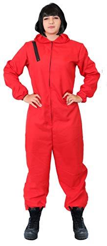 I LOVE FANCY DRESS LTD Disfraz DE LADRÓN DE Bancos DE Disfraces para Adultos - Mono Rojo & Peluca Bob Negra Disfraz DE CASA DE Papel - Disfraz DE TELEVISIÓN (Grande)