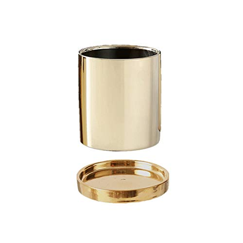 Qeepenl Ceramic Flower Pot Plating Gold And Silver With Tray Insert Vase Nordic Home Wedding Room Golden Vase Without Hole Basin (Color : Gold)