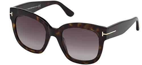 Tom Ford Unisex-Erwachsene FT0613 52T 52 Sonnenbrille, Braun (Avana Scura/Bordeaux Grad)