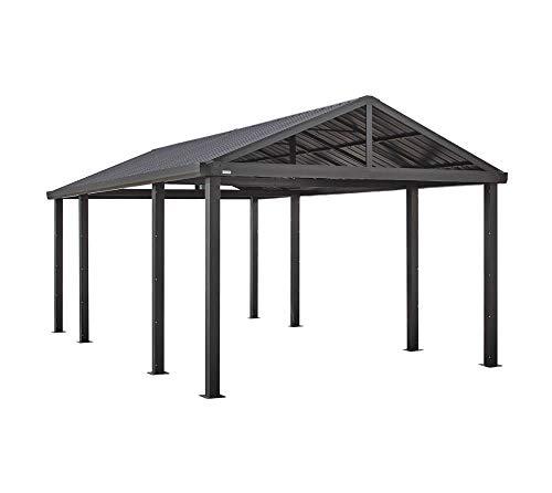 Sojag Aluminium Carport Samara 5,5x3 m Bausatz Überdachung Unterstand Autogarage anthrazit Stahldach 550x300 cm