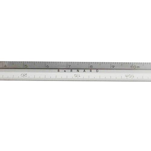 BeRNARD ナノ三角スケール 15cm レーザー目盛NS15-1 銀