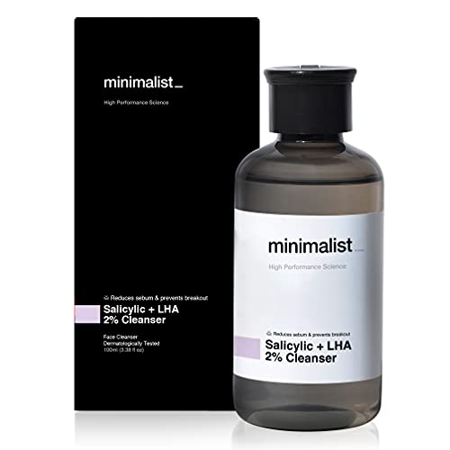 Minimalist 2% Salicylic Acid Face Wash for Oily, Acne Prone Skin (100 ml) | Sulphate free, Anti Acne Face Cleanser With LHA & Zinc For Men & Women