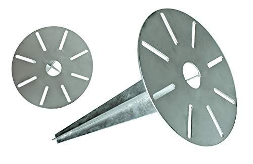 Erdspieß verzinkt Universal Erdspiess für Steckdosensäule Wegeleuchte mit Kabeldurchführung 30cm lang (1)