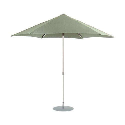 Jan kurtz 3 m parasol rond taupe aluminium avec articulé elba