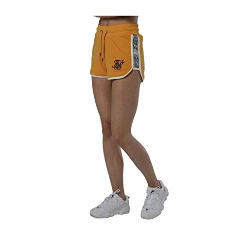 Sik Silk S/S - Runner Shorts, Yellow, 38