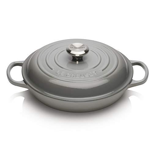 Le Creuset Cacerola baja Evolution de hierro fundido, Redonda, diametro 26 cm, 2,2 L, Para todas las fuentes de calor, incluye inducción, Gris Mist