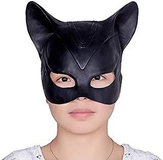 Batman Arkham Knight Catwoman Mask Latex Black Full Head of Cosplay Mask Helmet