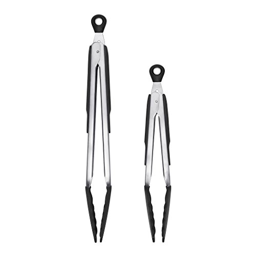 OXO Good Grips Locking Tongs with Silicone Heads