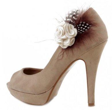 Pretty Pink Toes - Decoración de zapatos Beige crema talla única