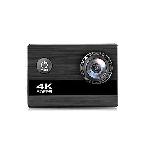 QINQIN Mini cámara Deportiva Ultra HD 4K / 60fps WiFi 2.0'LCD, 170D cámara subacuática Resistente al Agua para cámara Deportiva, Apto para el Buceo Deportivo Ciclismo, Silver Gray