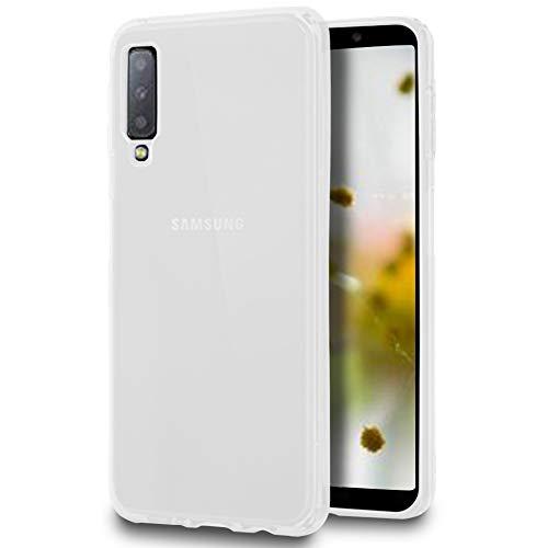 United Case Cover Resistente per Samsung Galaxy A7 (2018) | Bianco Trasparente | Protezione
