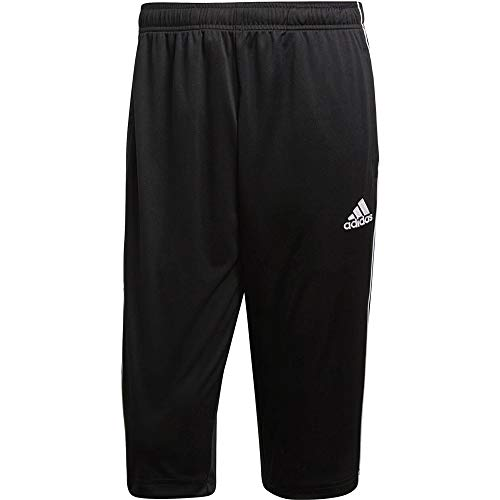 adidas Herren Core 18 3/4 Trainingshose, Black/White, XL
