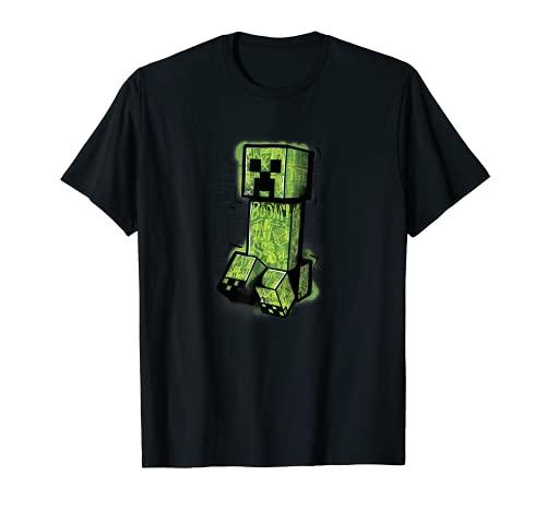 Minecraft Creeper Graffiti Sit Camiseta