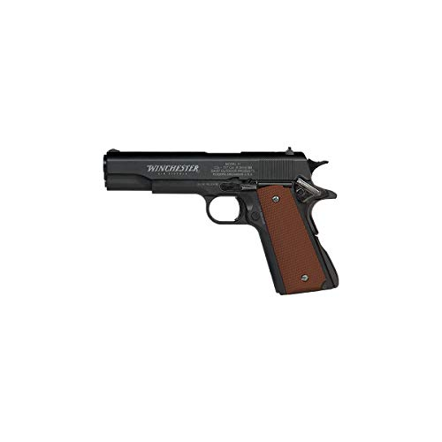 Winchester Model 11 Semi-Automatic BB Pistol .177 Cal 16 Shot Blowback CO2 Powered, Steel with Brown Composite Grip