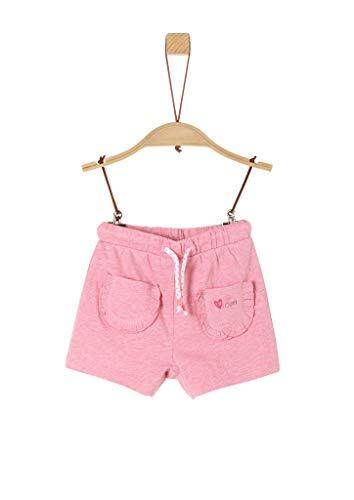 s.Oliver Junior Baby-Mädchen 405.10.005.18.183.2038403 Lässige Shorts, 44W6 Light pink Melange, 80/REG