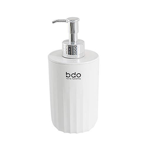 KOCAWIS Dispensador de jabón para baño champú loción botella con bomba contenedor de jabón líquido serie White Wave 300 ml