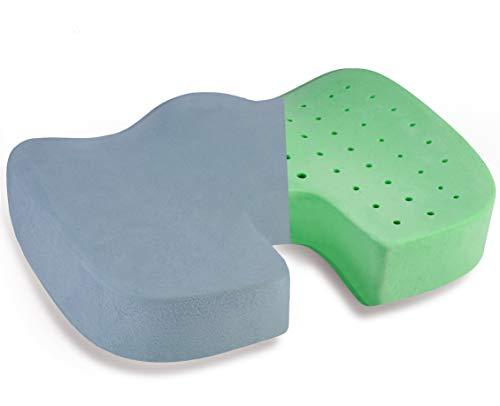 YUDOXN Cojin Coxis para Silla de Oficina,Cojines para sillas de Oficina de Espuma de Memoria, Espa