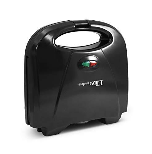 Elite Cuisine ESM-9002KB Compact Electric Panini Press Sandwich Maker with with, Non-Stick, Black
