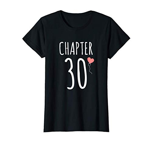 Womens 30th Birthday Gift Idea For Her Chapter 30 T-Shirt