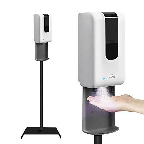 S SMAUTOP Desinfektionssäule mit Sensor Automatischer Desinfektionsspender Sensor 1200ml Desinfektionsmittelspender stehend Höhenverstellbar Desinfektionsständer (Mit Seifenspender)