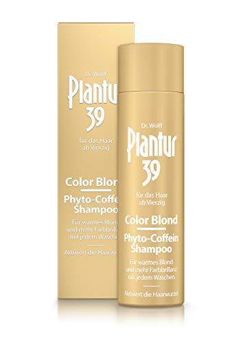 Plantur 39 Color Blond Phyto-Coffein-Shampoo – Farbauffrischendes Haarshampoo für Frauen zur Aktivierung der Haarwurzel – für blondiertes und blondes Haar – 1 x 250 ml