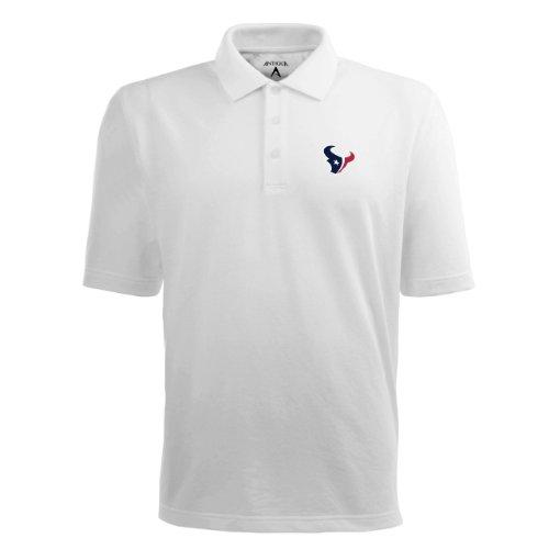 NFL Men's Houston Texans Pique Xtra Lite Desert Dry Polo Shirt (White, XXX-Large)