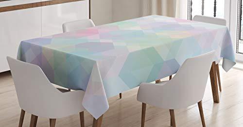 ABAKUHAUS Pastel Tafelkleed, Hexagonal Soft, Eetkamer Keuken Rechthoekige tafelkleed, 140 x 170 cm, Veelkleurig