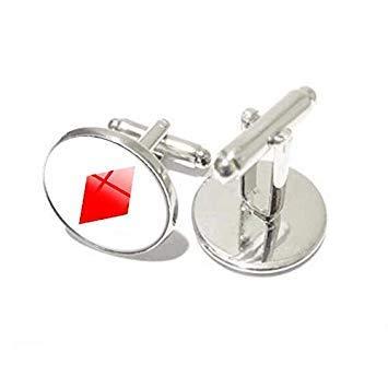 Manschettenknöpfe mit Spielkarten-Motiv, personalisierbar, rund, Glas, Bräutigam Hemd, Manschettenknöpfe für Herrenhemden, Hochzeitszubehör